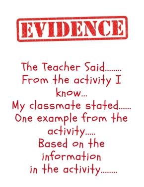 Evidence Stems